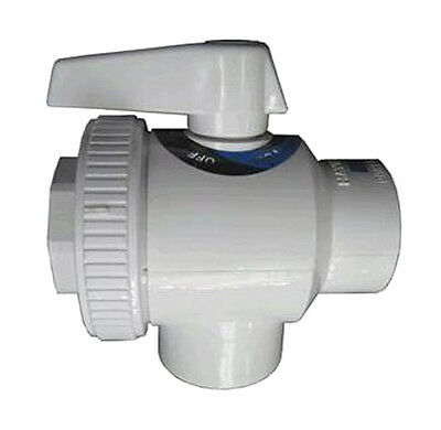 "Hayward SP0735 Swimming Pool 1-1/2"" FIP Pipe Deluxe 4-Way Replacement Ball Valve"