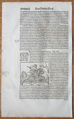 MÜNSTER/MUNSTER: Cosmographia War Turkey Hungary - 1592