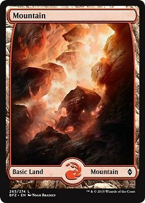 2x FULL ART Montagna 265 - Mountain 265 MTG MAGIC BFZ Battle for Zendikar En/It