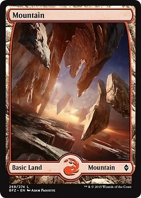 2x FULL ART Montagna 268 - Mountain 268 MTG MAGIC BFZ Battle for Zendikar En/It