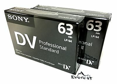 Sony DVM63PS Professional  Mini DV Minidv Camcorder video 63 Min Tape  2 Pack