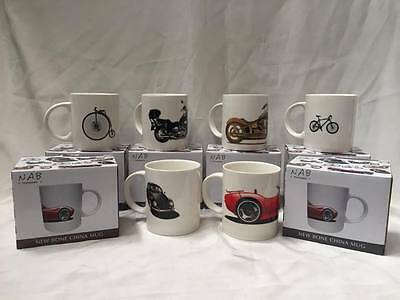 New Bone China Coffee Mugs available in 6 Bike & Car Designs  CLEARANCE PRICE