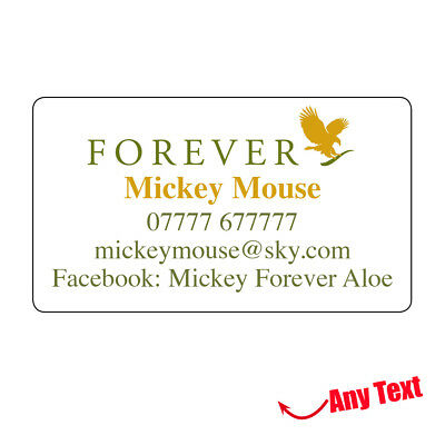 260 Forever Living Personalised Stickers address Business labels Promotion -624
