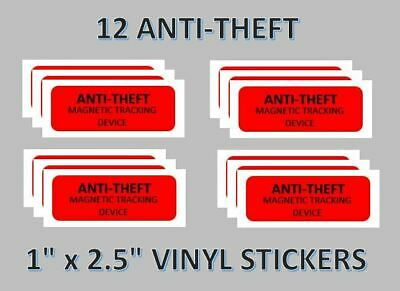 12  Anti Theft Stickers Labels vending vendstar   x