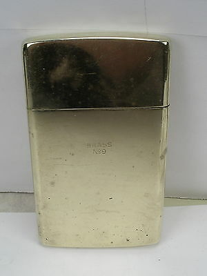Vintage CHAS T. KENNEDY Brass No. 9 Cigarette/matches Holder Made in Korea