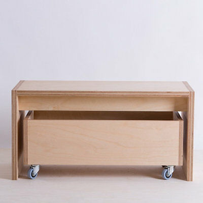 Handmade wood storage toy box ottoman with bench handcrafted fully assembled