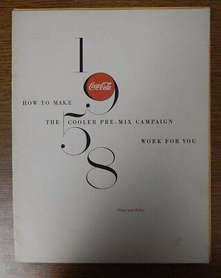 Coca-Cola 1958 How to Make The Cooler Pre-Mix Campaign Work for You Plans &Rules