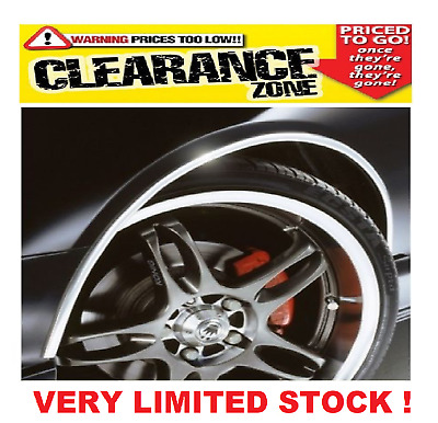 E-Tech Car Wheel Arch Guard - 5m x 16mm - CHROME - Self Adhesive Protection