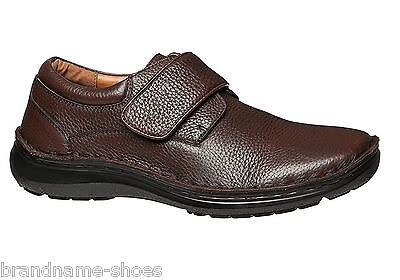 Mens Hush Puppies Bloke Brown Leather Extra Wide Slip On  Work Men's Dress Shoes