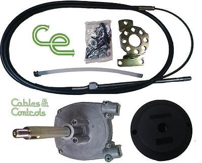 Complete outboard steering kit. 16 foot cable, Teleflex SSC62 or SSC92