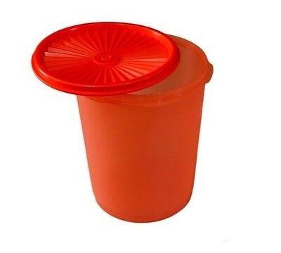 Brand New Tupperware Large Retro Canister Container - Scarlett