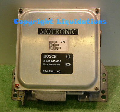 Porsche 944 2.5 8v 1983-1985 Engine ECU 944.618.111.00 - Bosch # 0261200006