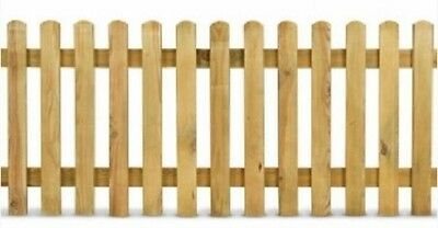 Wooden fence picket fence garden fence flowerbeds L200cm
