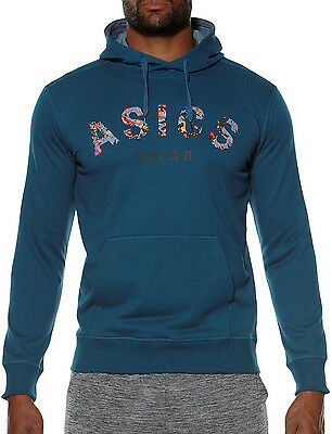 Asics Camou Logo Mens Training Hoody - Blue
