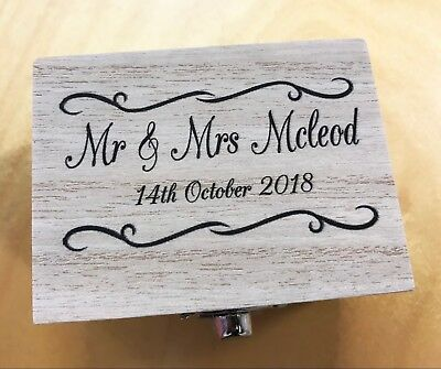 Boxed Personalised Wood 8GB USB Memory Stick Drive Wedding Photos Gift Present