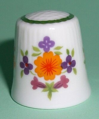 Porcelain Ceramic Flowers Ornaments Thimble