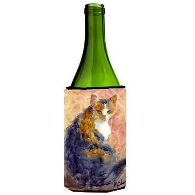 Carolines Treasures MM6039LITERK Cat Wine bottle sleeve Hugger