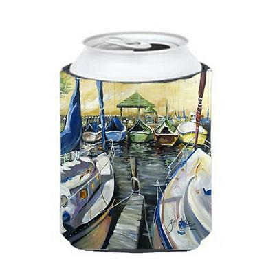 Carolines Treasures JMK1231CC Seven Boats Sailboats Can & Bottle Hugger