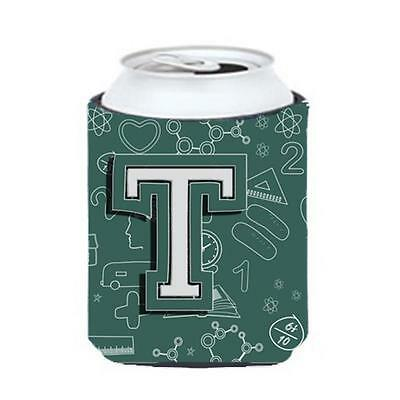 Carolines Treasures Letter T Back To School Initial Can & Bottle Hugger • AUD 45.90