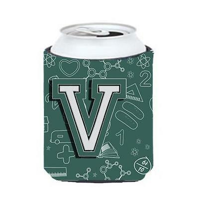 Carolines Treasures Letter V Back To School Initial Can & Bottle Hugger