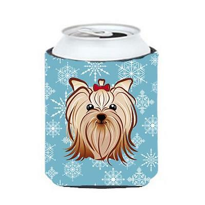 Carolines Treasures Snowflake Yorkie Yorkishire Terrier Can & Bottle Hugger