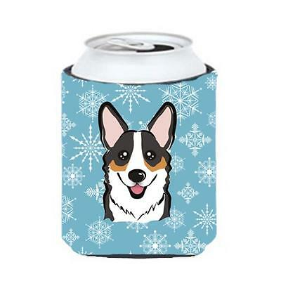 Carolines Treasures BB1689CC Snowflake Tricolor Corgi Can & Bottle Hugger
