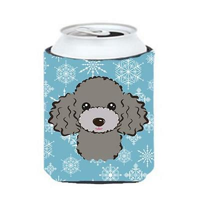 Carolines Treasures BB1693CC Snowflake Silver Gray Poodle Can & Bottle Hugger