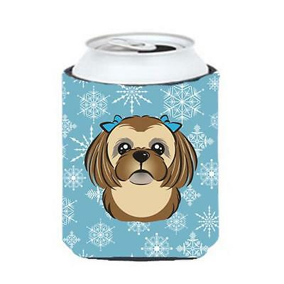 Carolines Treasures Snowflake Chocolate Brown Shih Tzu Can & Bottle Hugger