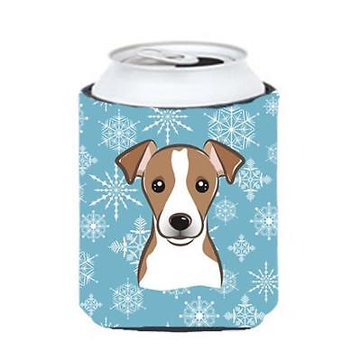Carolines Treasures BB1694CC Snowflake Jack Russell Terrier Can & Bottle Hugger
