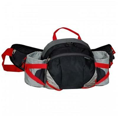Everest BH17-BK-GRY Outdoor Waist Pack With Bottle Holders Black & Gray