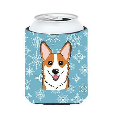 Carolines Treasures BB1688CC Snowflake Red Corgi Can & Bottle Hugger