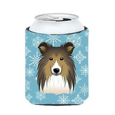Carolines Treasures BB1676CC Snowflake Sheltie Can & Bottle Hugger