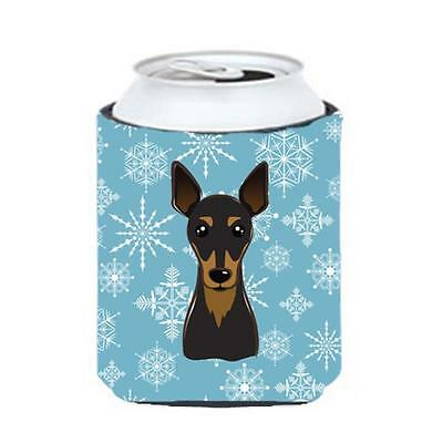 Carolines Treasures BB1674CC Snowflake Min Pin Can & Bottle Hugger
