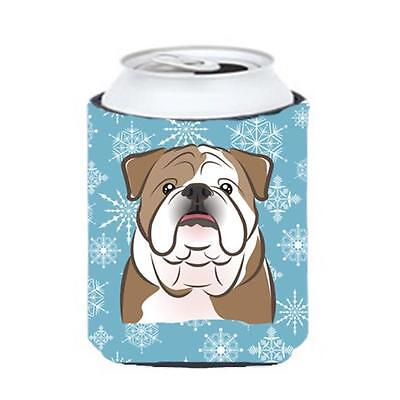 Carolines Treasures BB1653CC Snowflake English Bulldog Can & Bottle Hugger