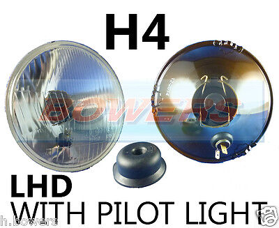 "5.75"" 5 3/4"" Lhd Classic Car Headlamp Headlight Halogen H4 Conversion With Pilot"