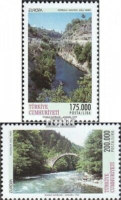 Turkey 3179-3180 mint never hinged mnh 1999 National