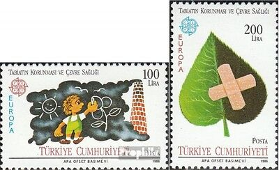 Turkey 2738-2739 mint never hinged mnh 1986 Nature- and Environment