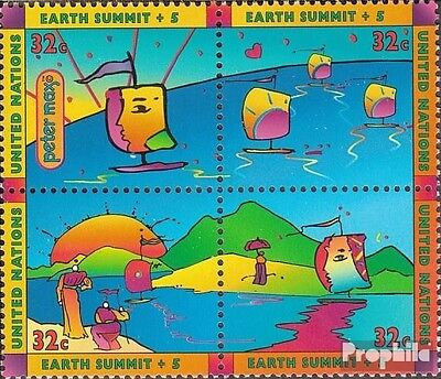 UN - New York 736-739 block of four fine used / cancelled 1997 Environment and D