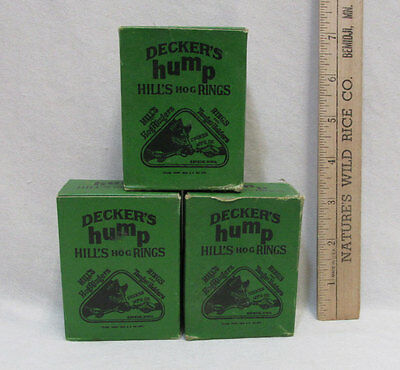 Deckers Hump Hills Hog Rings No. 3 Copper Wire 100 Count 3 Boxes