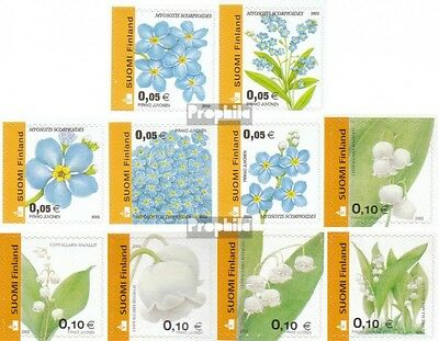Finland 1590BC-1599BC fine used / cancelled 2002 clear brands: Flowers