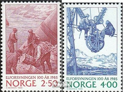 Norway 928-929 mint never hinged mnh 1985 electricity