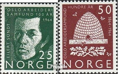 Norway 512-513 mint never hinged mnh 1964 Osloer Arbeiterverein