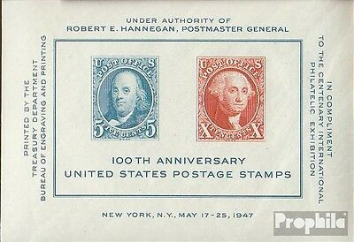 U.S. block9 mint never hinged mnh 1947 Stamp Exhibition New York