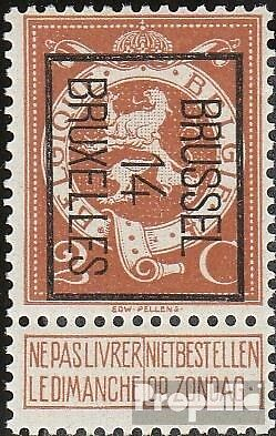 Belgium 90V with Vorausentwertung mint never hinged mnh 1912 clear brands