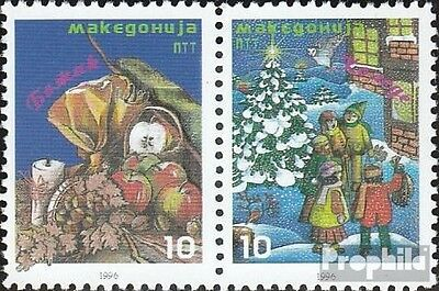 makedonien 76-77 Couple mint never hinged mnh 1996 christmas