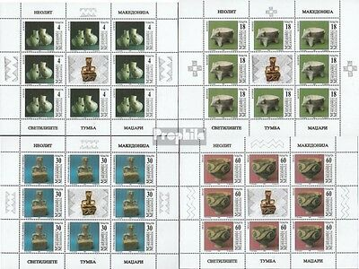 makedonien 122-125 Sheetlet mint never hinged mnh 1998 Archaeological Finds