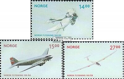Norway 1785-1787 mint never hinged mnh 2012 Aviation