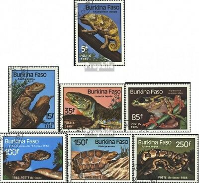 Burkina Faso 1005-1011 mint never hinged mnh 1985 Reptiles