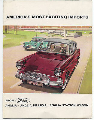 1950s Promotional Brochure for the Ford Import Anglia Automobile
