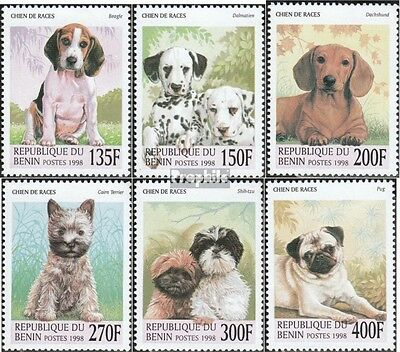 Benin 1049-1054 mint never hinged mnh 1998 Puppies